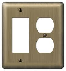 amerelle wall plates interesting devon steel 32rocker 32duplex wall plate contemporary switch