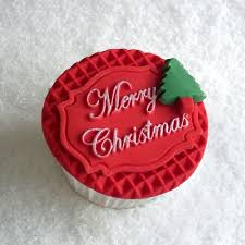 Merry Christmas Mini Plaque Cake Decorating Silicone Mould By