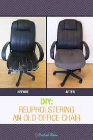 diy reupholstering the old office chair