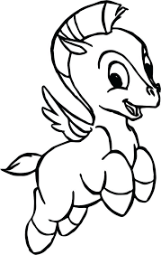 Stylish Design Ideas Pegasus Coloring Page Pages Genuine Flying Free