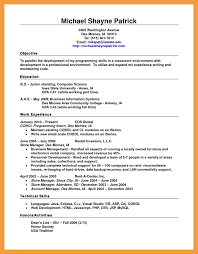 6 Standard Resume Format Resume Pdf