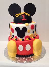 Mickey Mouse 1 St Birthday Cake Cake On Board Jsw My Cakes