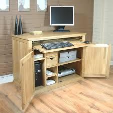 Models Oak Hidden Home Office Throughout Design Decorating