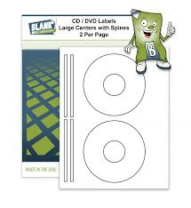2 Cd Dvd Labels Per Page Large Centers Compatible With Template 5931