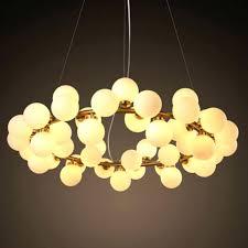 glass bubble light chandelier new design round led fixture modern re restaurant hanging lamp pendant drop