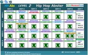 Hip Hop Abs Workout Chart Hip Hop Abs Ultimate Results On Popscreen
