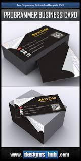 Free Programmer Business Card Template Psd
