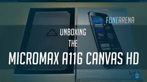 Micromax A116 Canvas HD Unboxing - YouTube