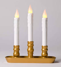 Battery Operated Window Lights Set Of 4 Pack Brass Base Led Battery Operated Window Candles