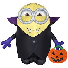New for 2016! Gemmy airblown gone batty minion airblown halloween ...