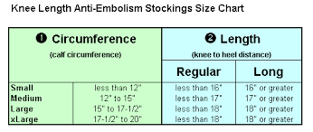 Ted Hose Size Chart Ted Hose Knee High Closed Toe Buy Anti Embolism Compression