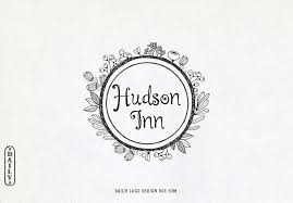 hand drawn style fl frame logo design