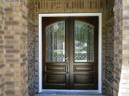 double wood entry doors with etched glass