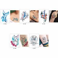 Glaryyears 1 лист временная татуировка стикер поддельные татуировки животные