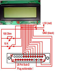 build your own lc display older build your own lc display lcd the pinlayout of the lcd display has to correspond to the following layout pin 15 und 16 will only be necessary for the background lighting otherwise the