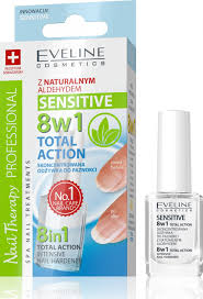 Eveline Cosmetics Spa Nail Total Action 8v1 Sensitive 12 Ml