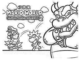 Super Mario Coloring Pages For Kids Free Classic Style Super