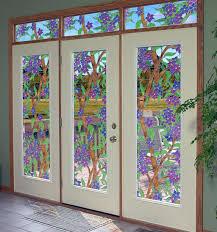 window stained glass is glass door sticker is stained glass window cling is stained