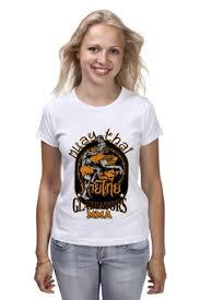 """Женские футболки c популярными принтами """"<b>муай тай</b>"""" - <b>Printio</b>"""