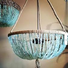 20 open sea glass chandelier this beautiful open chandelier sea glass chandelier sea glass chandelier anthropologie