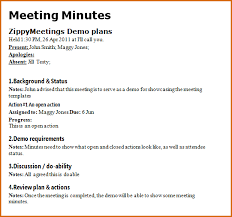 Examples Of Minutes Taken At A Meeting 8 Meeting Notes Format Authorizationletters Org