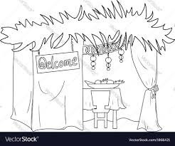 Small Picture Sukkah For Sukkot Coloring Page Royalty Free Vector Image