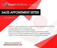 Appointment Setter Resume Classy Raso Solutions Is Hiring Appointment Setters Cebu Jobs Pinterest