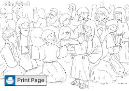 Grab your favorite crayons, markers or water colors and use the guides with each image to choose the right colors and make a nice picture. Jesus Feeds The 5000 Coloring Pages For Kids Printable Pdfs Connectus
