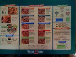 menu for round table pizza lahaina