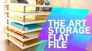 Diy Art Tips Tricks 1 Diy Art Storage Flat File With Ikea Youtube