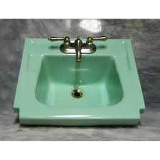 vintage green wall hung sink