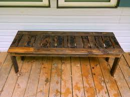Simple bench from pallets