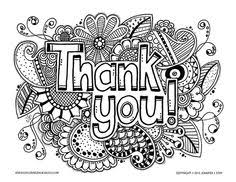 Coloring Pages Of Thank You Cards In Baby Boomme