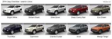 2019 Jeep Grand Cherokee Color Chart 2014 Jeep Cherokee Exterior Paint Colors 2014 Jeep