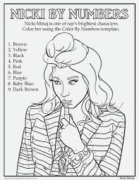 Nicki Minaj Coloring Pages - FunyColoring