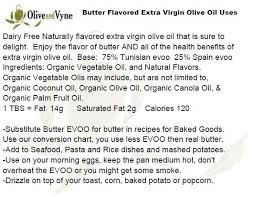 Butter To Olive Oil Conversion Chart Butter Evoo