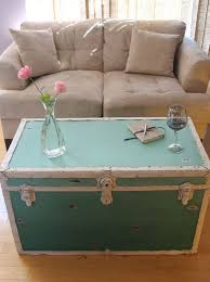 view in gallery distressed ombre steamer trunk in teal