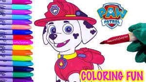 Nickelodeon Paw Patrol Marshall Coloring Page Fun Coloring Activity