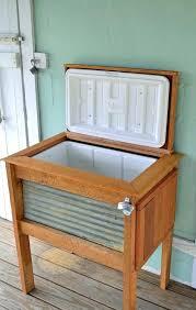 outdoor ice chest wooden pallet cooler plans blueprints brilliant ba