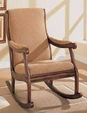 Rocking Chair Design Cushioned Dark Oak Rocking Chair Wood Rocker