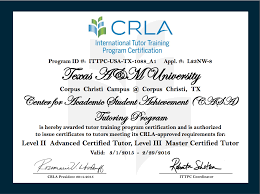 texas a m university corpus christi center for academic student tutoring certifications