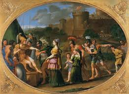 page of timoclea captive brought before alexander by domenichino in the web gallery of art a searchable image collection and database of european painting
