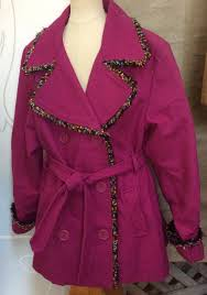 fringed wool pea coat girls 12 l hot pink kc collections fuchsia fall winter 1 of 4only 1 available