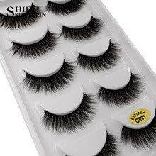 <b>LANJINGLIN</b> 5 pairs lashes 3d mink eyelashes makeup <b>natural long</b> ...