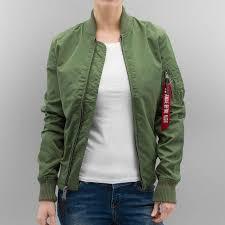 alpha industries jacket er ma 1 tt in green women alpha industries jacket