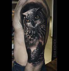 Owl Forest Best Tattoo Design Ideas