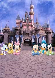 5x7FT Blue Sky Mickey Minnie Castle Entrance Flags Custom Photo ...