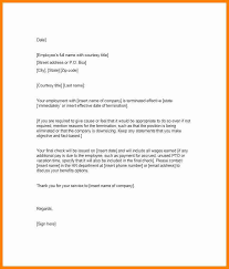 7 Employee Dismissal Letter Template This Is Charlietrotter
