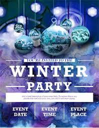 Part Flyer Elegant Winter Party Flyer