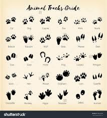 Animal Tracks Foot Print Guide Dog Tattoos Animal